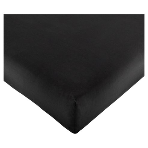 Tesco Deep Single Fitted Sheet- Black