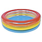 Tesco 3 Ring Rainbow Paddling Pool