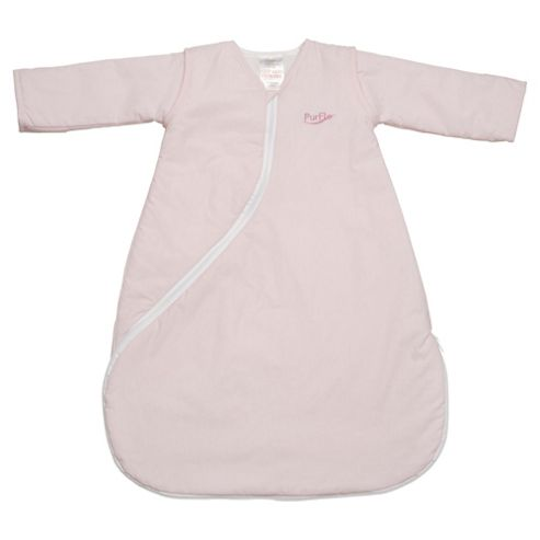 Purflo Baby 1 Tog Sleepsac, 9-18 Months,  Light Pink