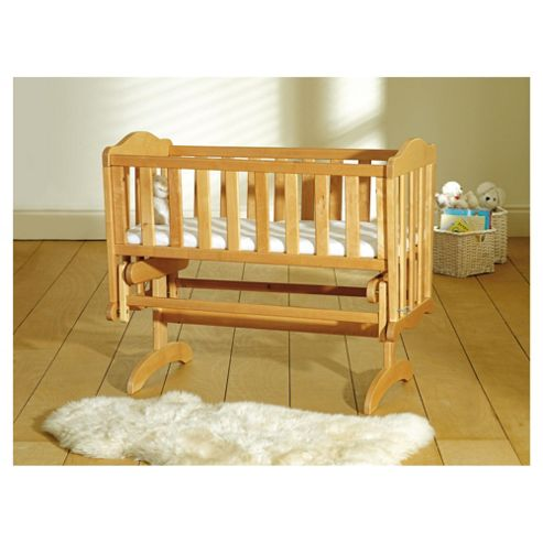 Saplings Glider Crib & Foam Mattress, Antique