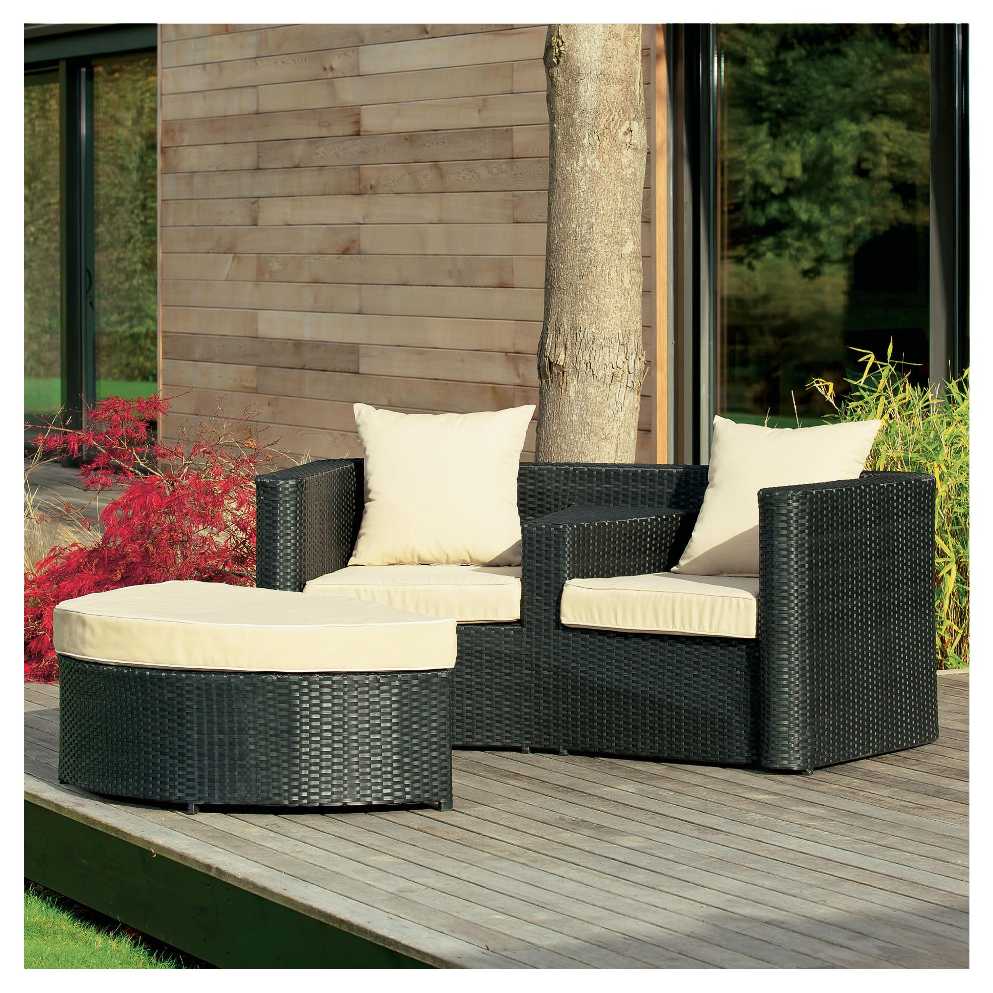 Figi Duo set with footstool, charcoal at Tesco Direct