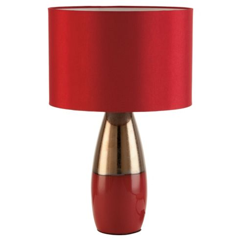 Tesco Lighting two tone table lamp red