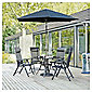 Sorrento 4 Seat Set & Parasol - Charcoal