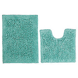 buy tesco pedestal and bath mat set mint from our bath. Black Bedroom Furniture Sets. Home Design Ideas