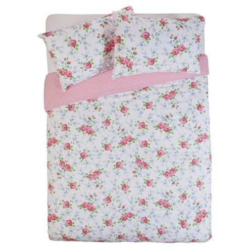 Tesco Ditsy Floral Duvet Cover Set - Pink, Single