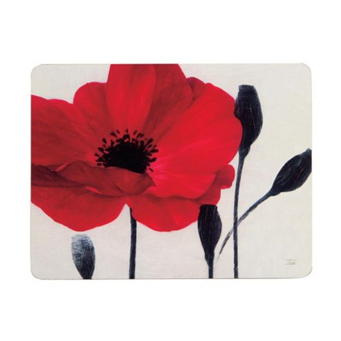 Tesco Poppy Set of 4 Placemats