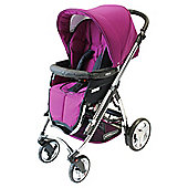 Bebecar Ip-Op Chrome Pushchair, Damson