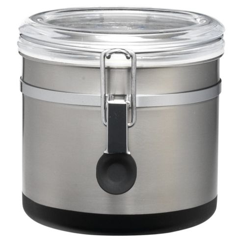 Go Cook Clip Storage Jar with Spoon, Stainless Steel