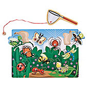 Melissa & Doug Wooden Bug Catching Magnet Puzzle Game