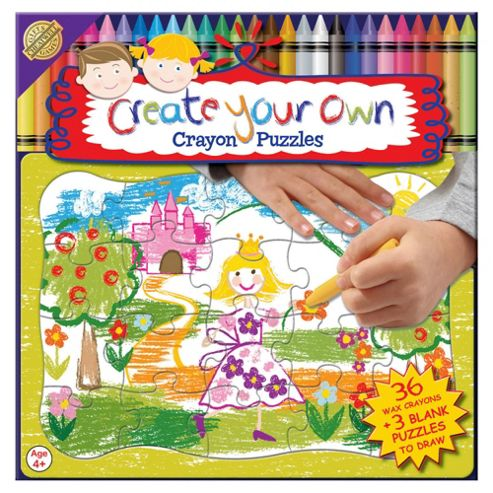 Cheatwell Create Your Own Jigsaw Puzzle 36 Crayons
