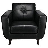 Lorenzo Leather Armchair Black