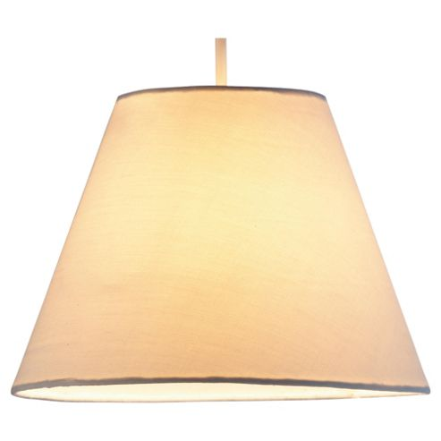 Tesco Lighting 23cm plain counter shade cream