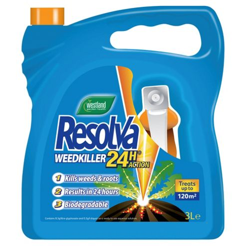 Resolva 24 Hour Action Weedkiller, 3L