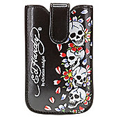 Ed Hardy Leather Case Universal Press Stud Black