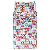 Tesco Kids Owl Single Duvet Set