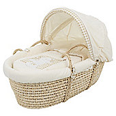 Obaby B is for Bear Moses Basket with Stand, Cream