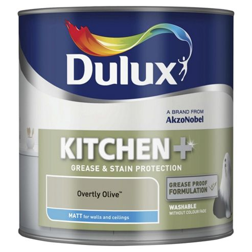 Dulux Kitchen Plus Matt Emulsion Paint, Overtly Olive, 2.5L