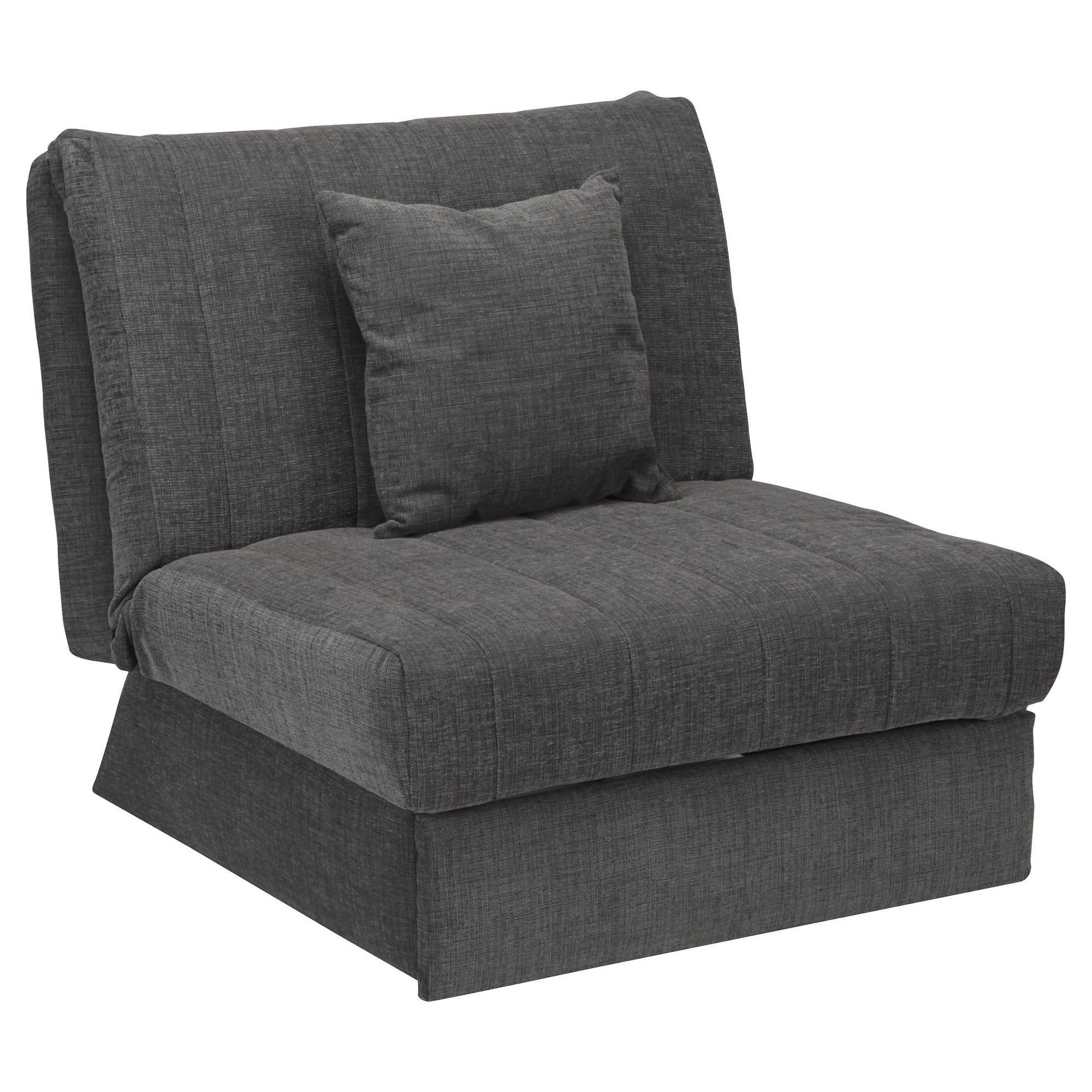 Morton Fabric Single Sofa Bed Charcoal at Tesco Direct