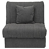 Morton Fabric Single Sofa Bed Charcoal