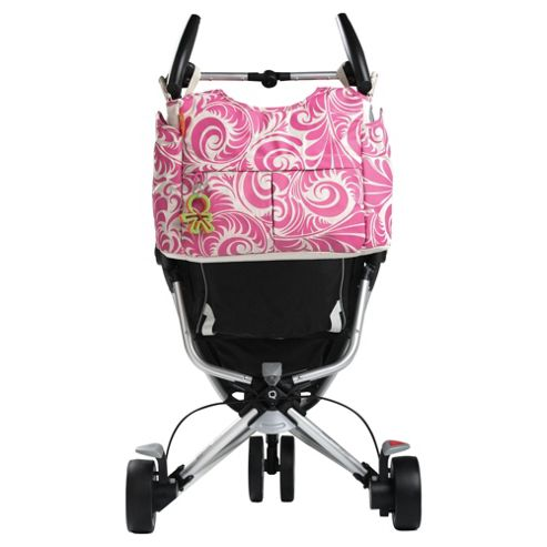 Okiedog Equinox Celeb Tote Baby Changing Bag Pink/Beige