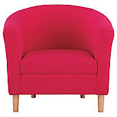 Tub Fabric Accent Chair Pink