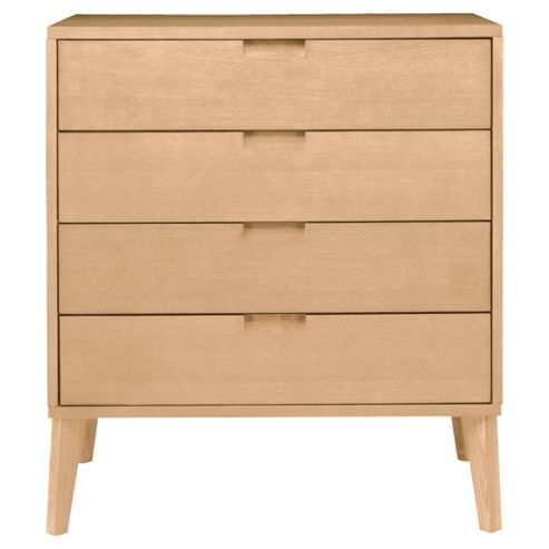 Retro 4 Drawer Chest, Oak
