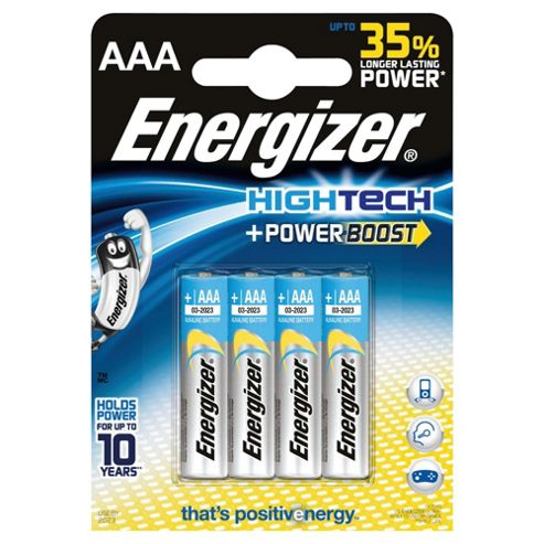 Energizer HighTech 4 Pack Alkaline AAA batteries