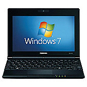 Toshiba NB500-11D Netbook Intel Atom (N455) 1.66GHz 1024MB 250GB 10.1 inch TFT WLAN Windows 7 Starter (Intel GMA 3150) (Matt Black)