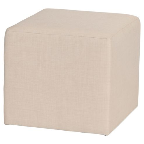 Stanza Fabric Cube / Foot stool Natural