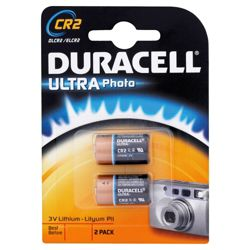 Duracell Ultra Photo 2 Pack CR2 3V Lithium Batteries