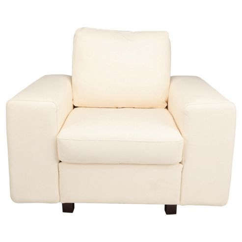 Marcello Leather Armchair, White