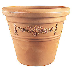 buy large garland pot terracotta w51cmxh43cm from our pots. Black Bedroom Furniture Sets. Home Design Ideas