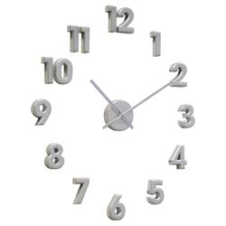 Acctim Numbers Wall Clock Silver