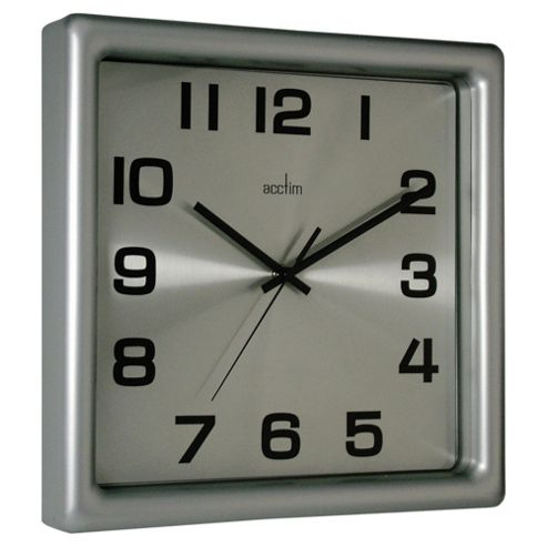 Acctim Lido Wall Clock Silver