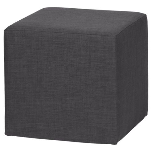 Stanza Fabric Cube / Foot stool Charcoal
