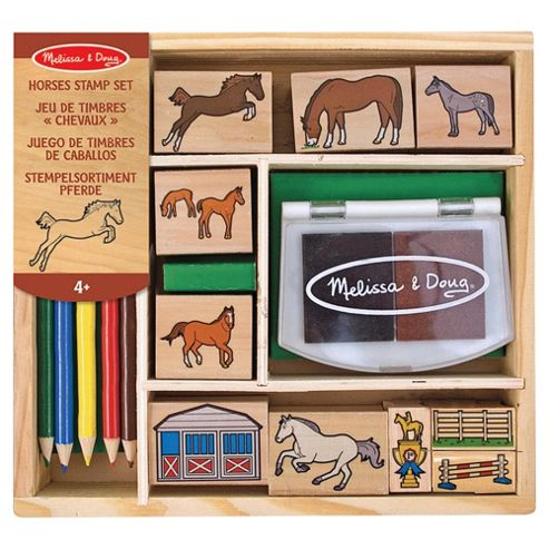 Melissa & Doug Wooden Horses Stamp Set