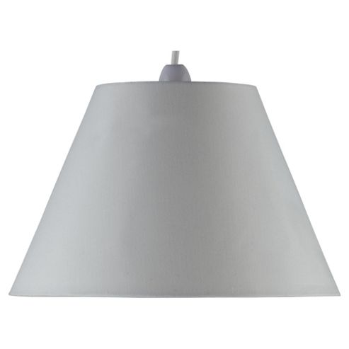 Tesco Lighting 31cm plain counter shade cream