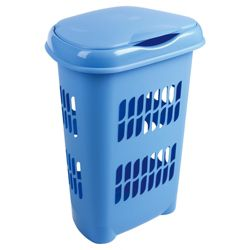 Laundry hamper, blue..