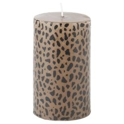 Tesco leopard print pillar candle