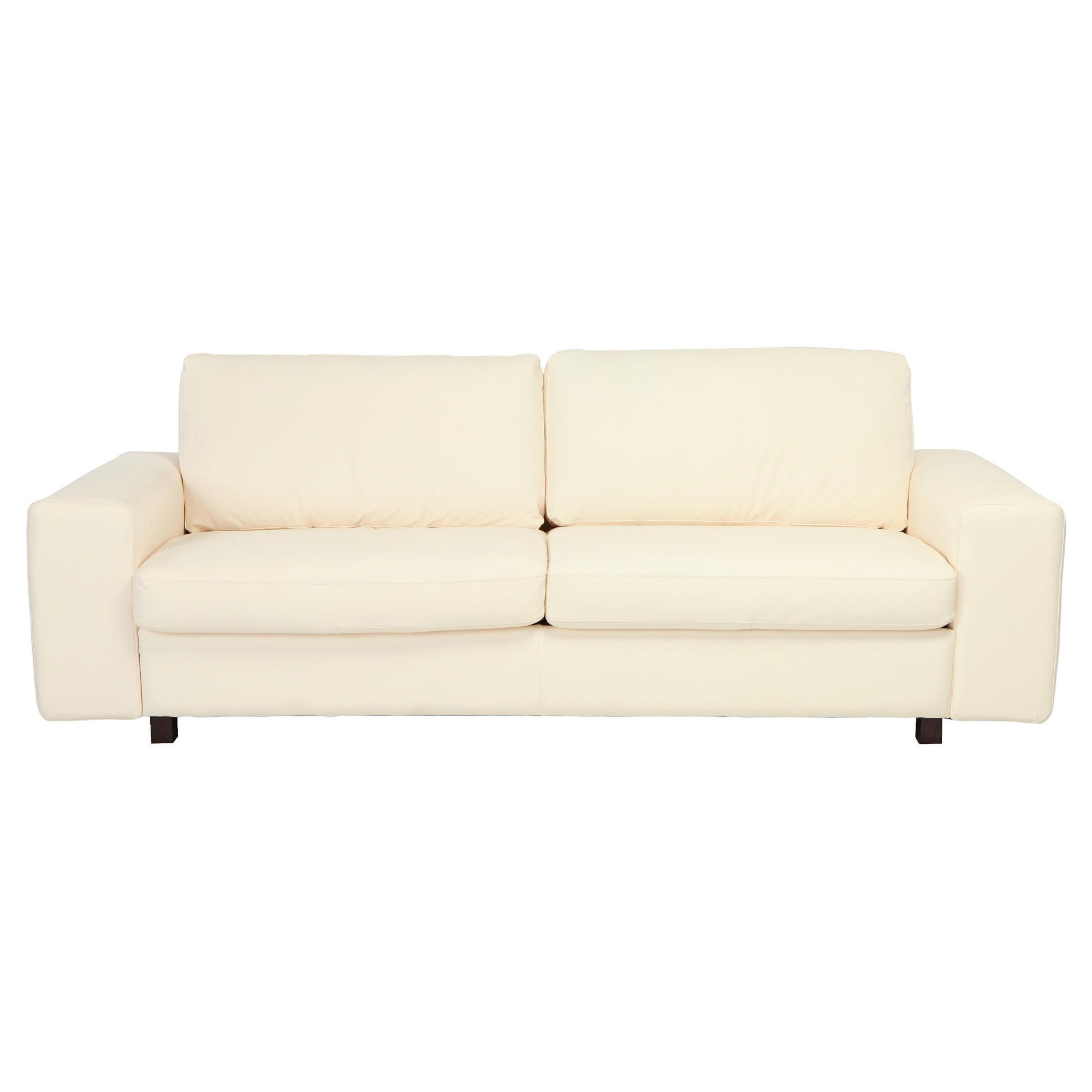 Marcello Large Leather Sofa White at Tesco Direct
