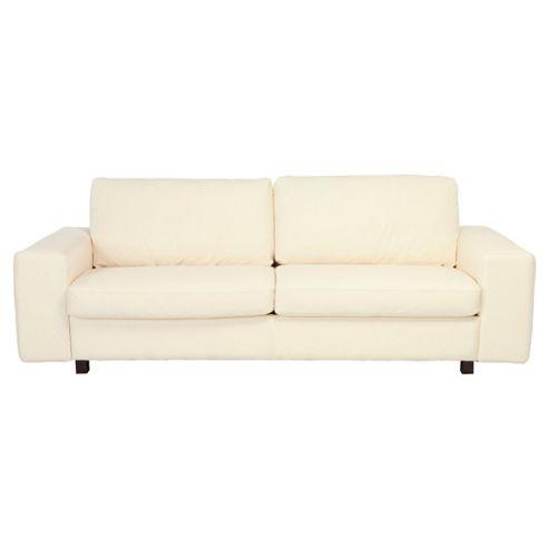 Marcello Large Leather Sofa White