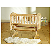 Saplings Glider Crib & Foam Mattress, Natural