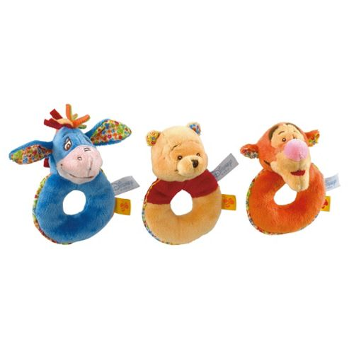 Winnie The Pooh Ring Rattle Assortment