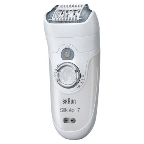 Braun Silk-épil 7 7681 Wet & Dry Cordless Epilator with 5 attachments