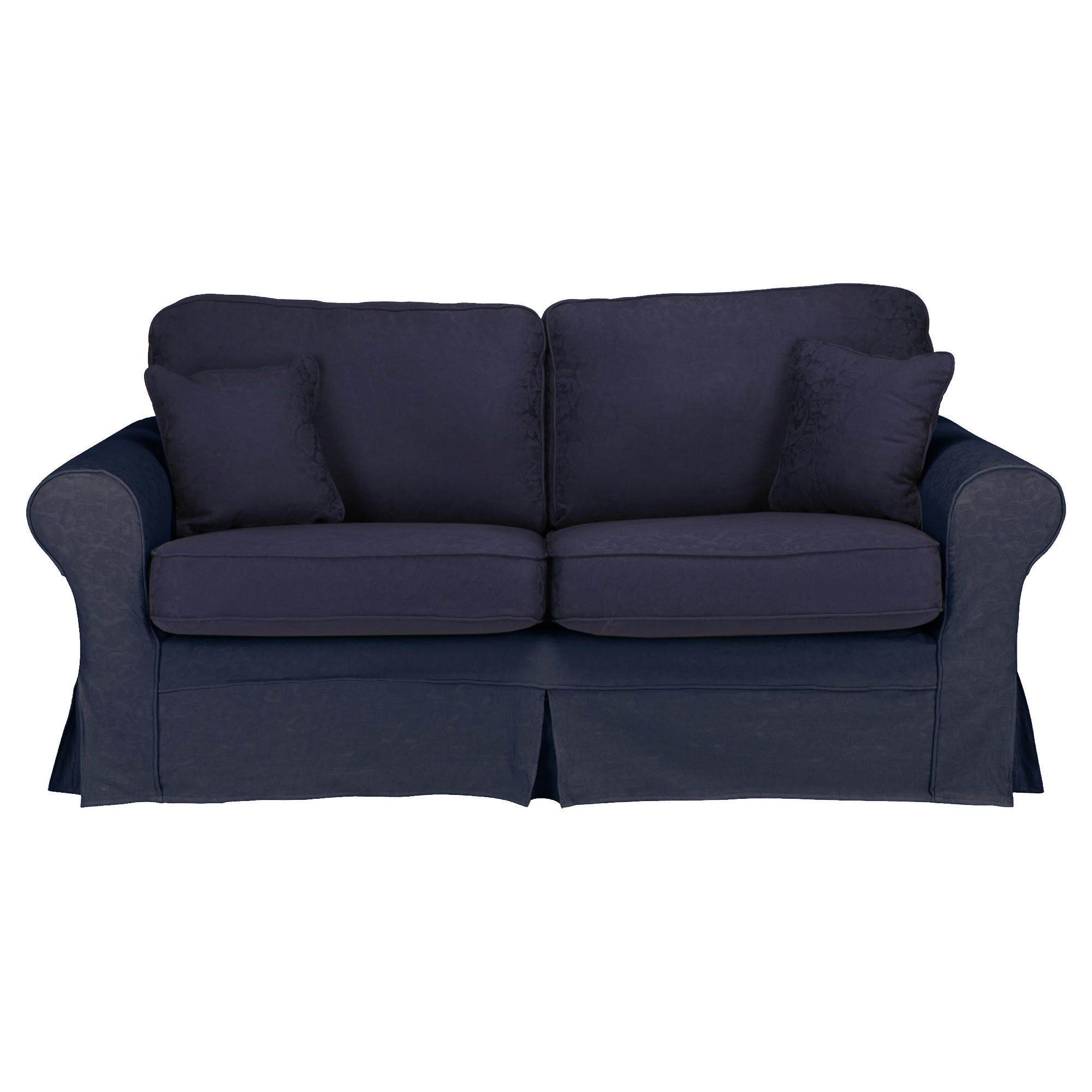 Louisa Small Sofa with Removable Jaquard Cover, Navy at Tesco Direct