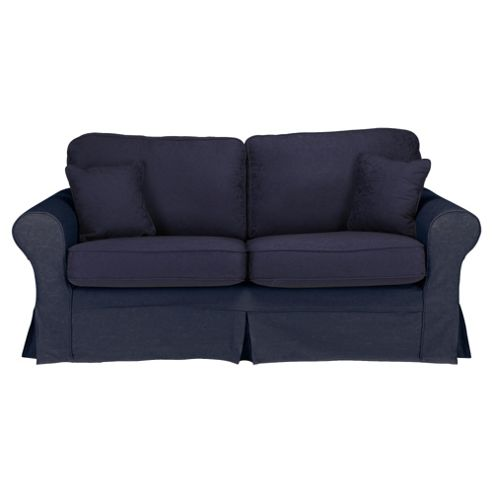 Louisa Small Sofa with Removable Jaquard Cover, Navy