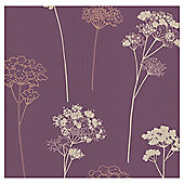 Dulux Wallpaper Meadowsweet Plum 1 Roll