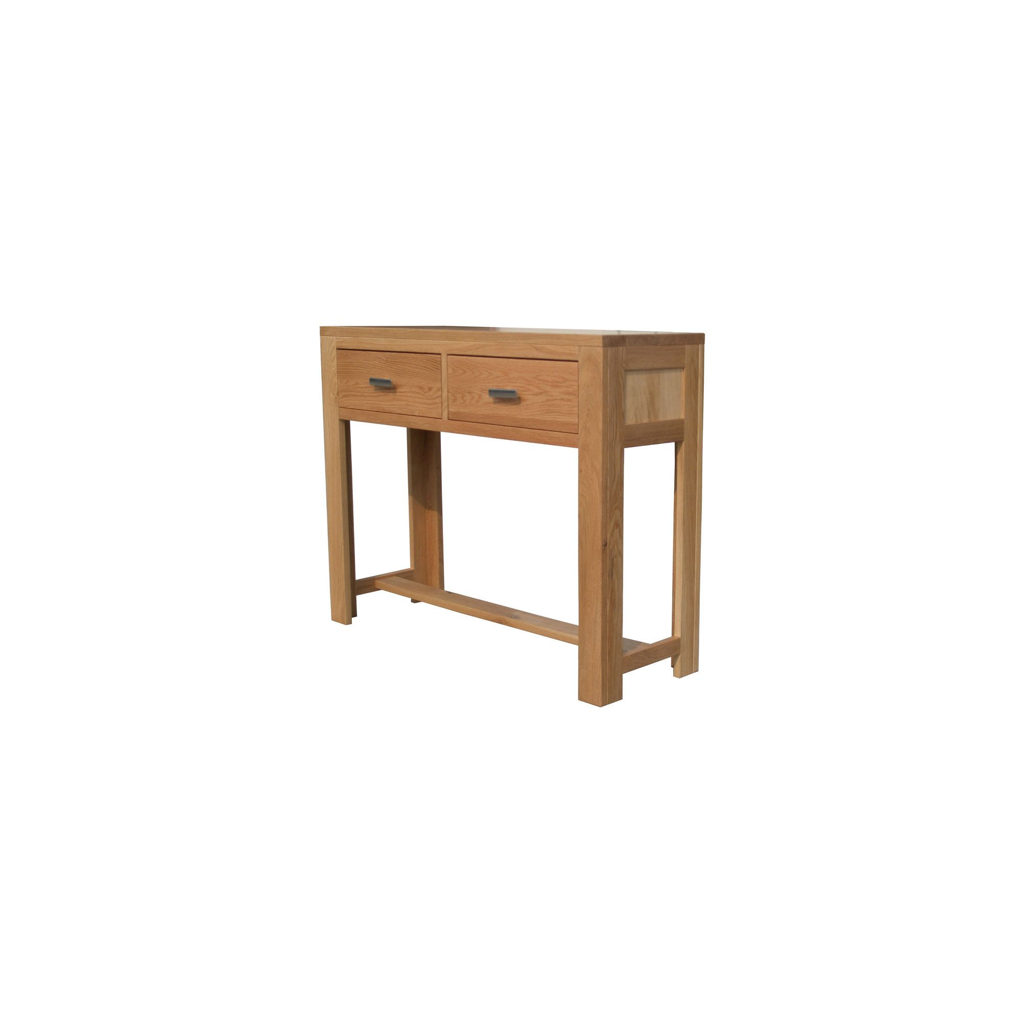 Home Zone Furniture Churchill Oak 2010 Large Console Table in Natural Oak