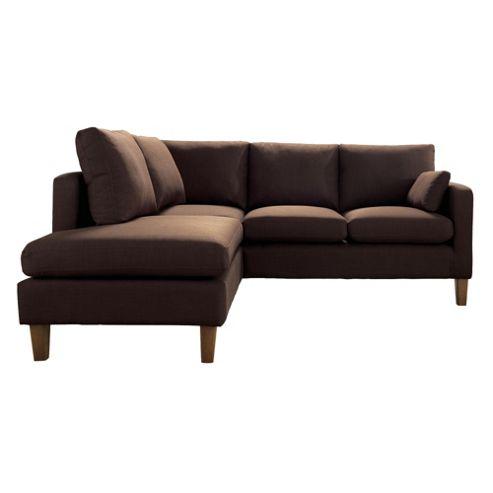 Sheldon Corner Fabric Sofa Chocolate Right Hand Facing