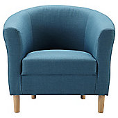 Tub Fabric Accent Chair Teal